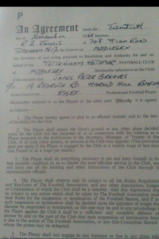 jimmy greaves contract