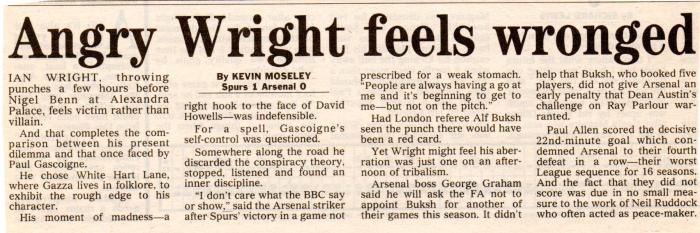 14Dec92 Arsenal v Spurs002