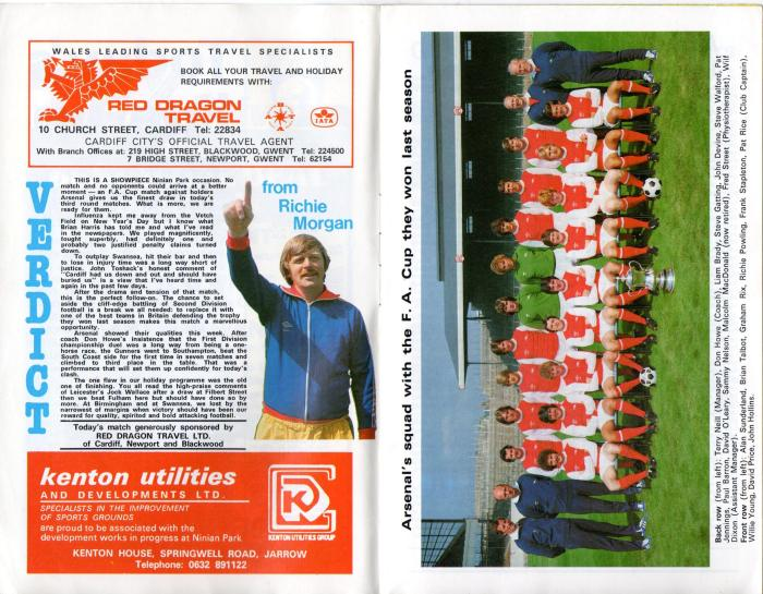 Cardiff programme 5Jan80 3