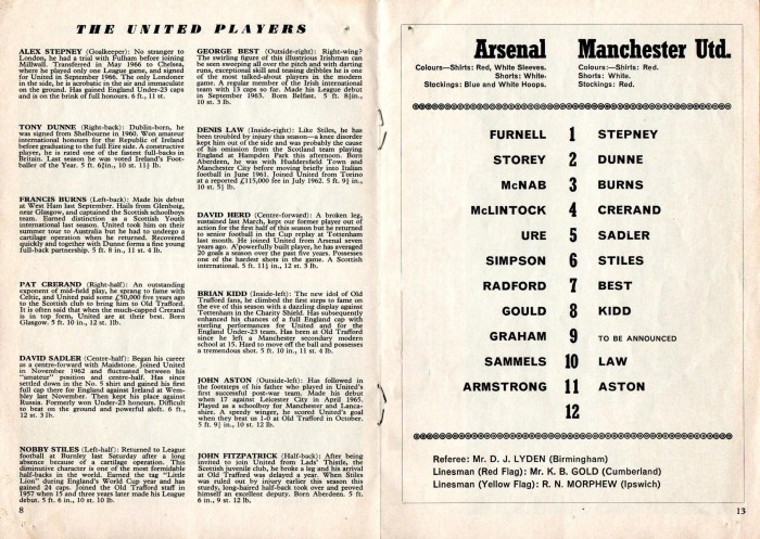 Arsenal v Man Utd 24Feb68 5