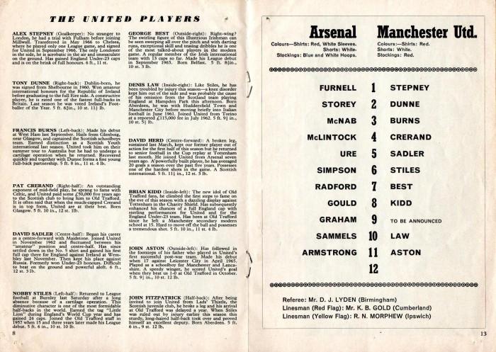 Arsenal v Man Utd 24Feb68 5