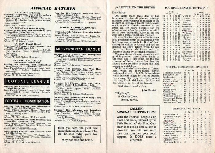 Arsenal v Man Utd 24Feb68 7