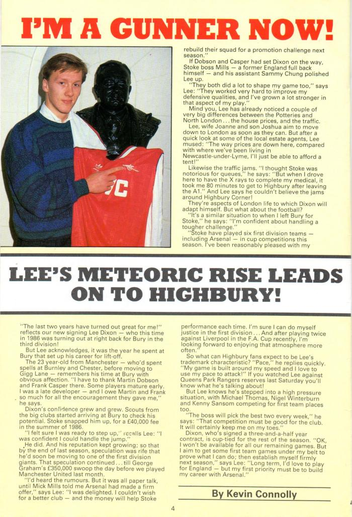 Lee Dixon signs for Arsenal001