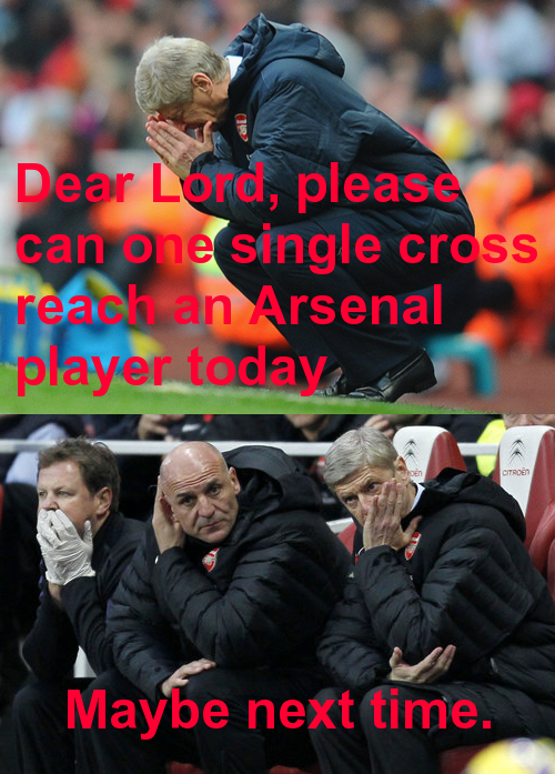 arsene prays
