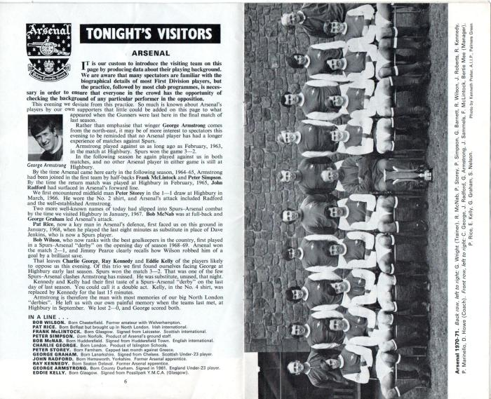 Spurs v Arsenal 1971 004
