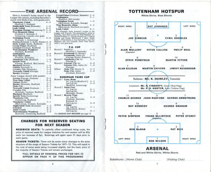 Spurs v Arsenal 1971 005