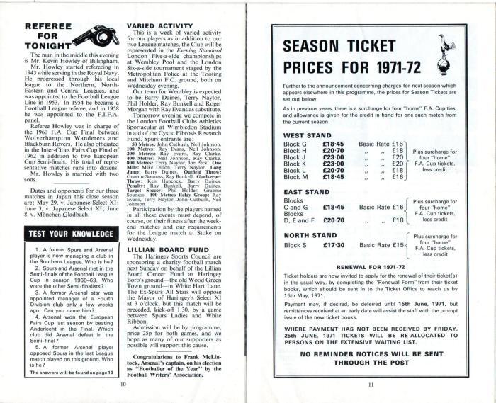 Spurs v Arsenal 1971 006