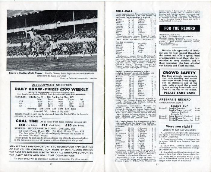 Spurs v Arsenal 1971 007