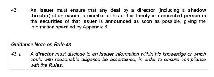 ISDX rule 43