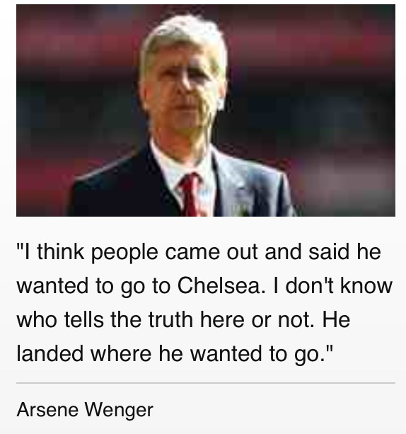 cesc comment from arsene