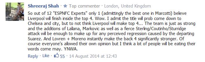 Liverpool idiot