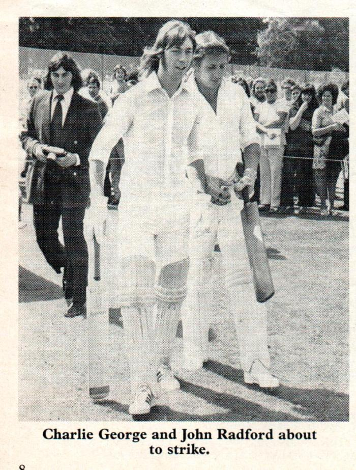 1973-74 Arsenal programme cricket