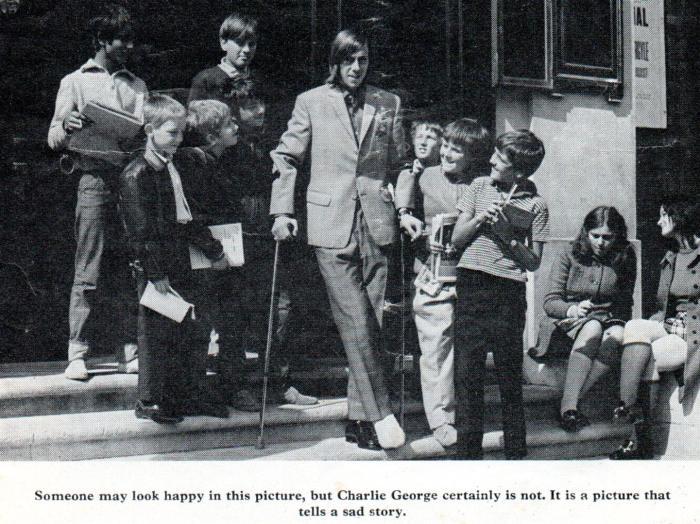 Arsenal programme 1971 1 - Charlie George injured