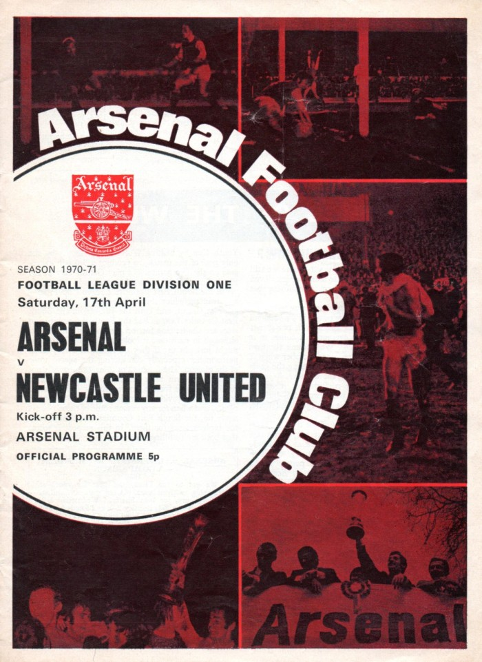 Arsenal programme 1971 - Copy