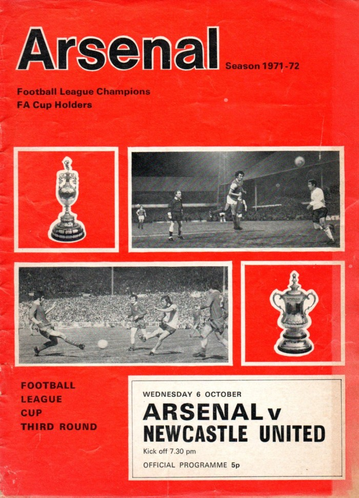Arsenal programme 71-72 001 small