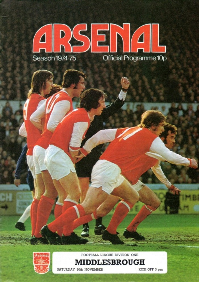 Arsenal Programme cover 1974-75 s