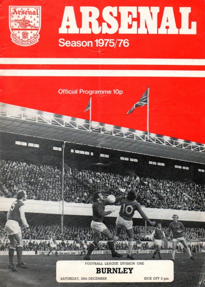 Arsenal programme cover 1975-76 s