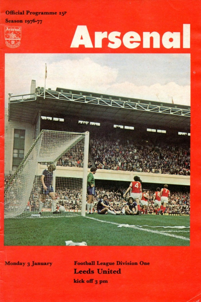 Arsenal programme 1976-77 Cover