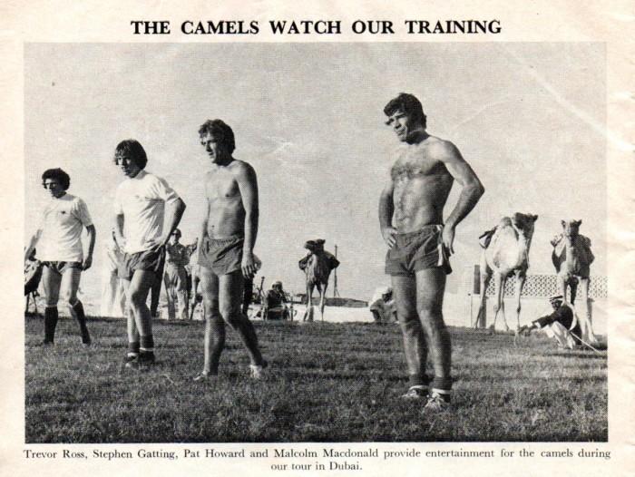 Arsenal programme 1976-77 Dubai