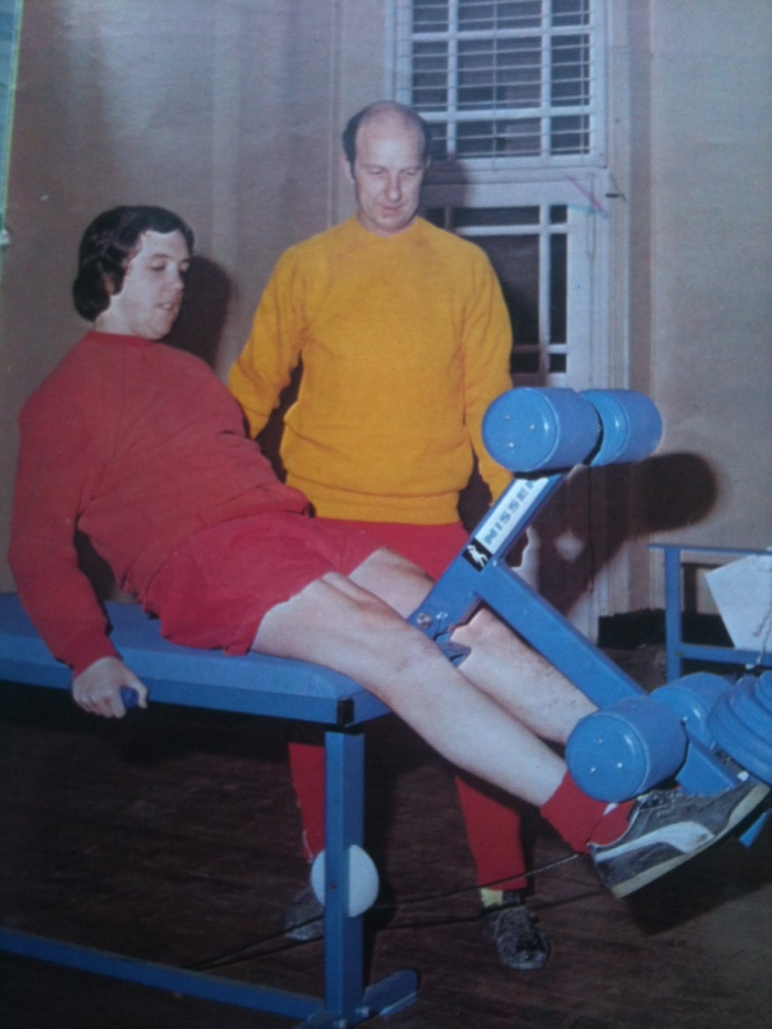 Richie Powling recovering from injury on one of those new weights machines